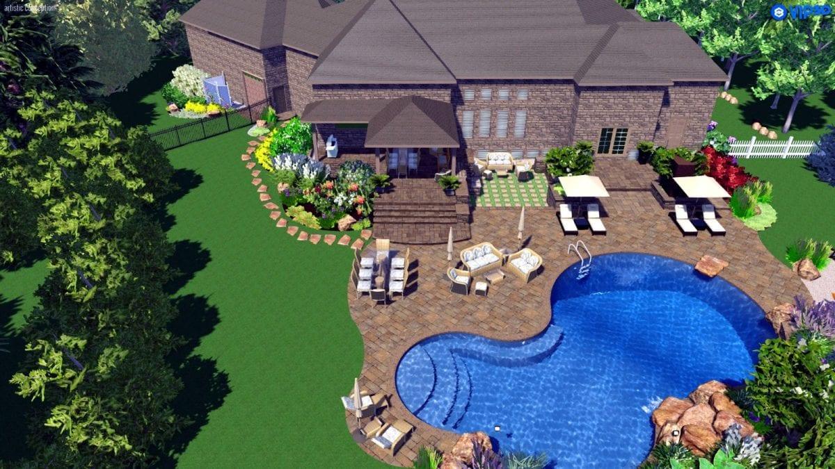 3d design rendering mallette landscaping